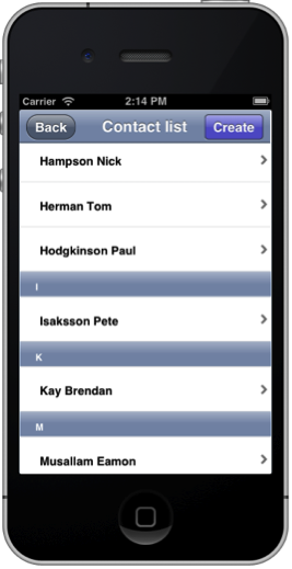 list view css iphone