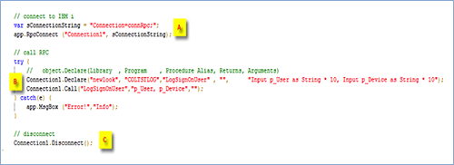 RPC Fig4 RPC Call code snippet